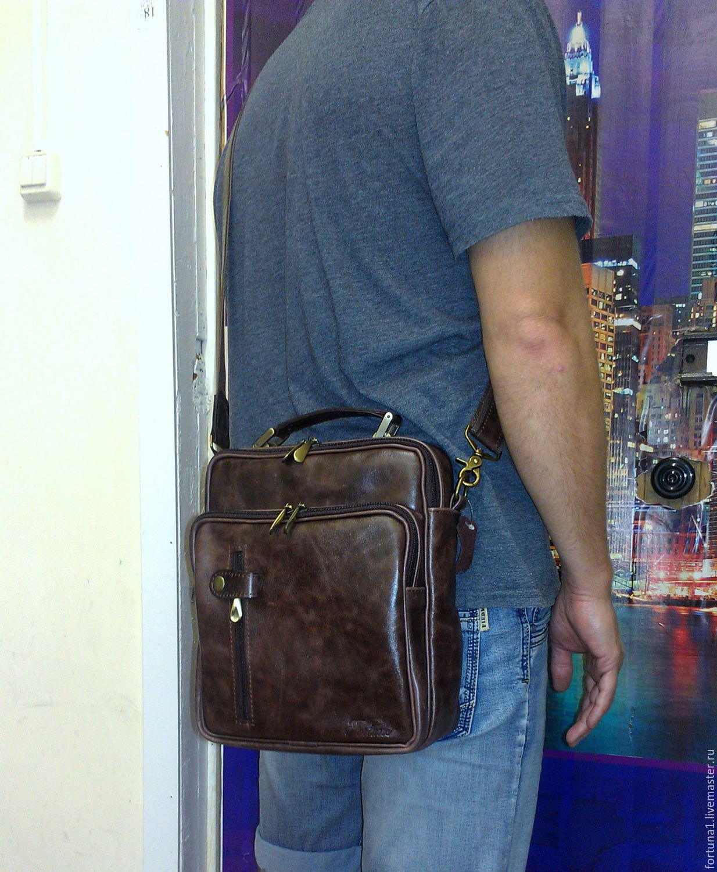 Bag leather 162, Men\'s bag, St. Petersburg,  Фото №1