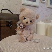 Куклы и игрушки ручной работы. Ярмарка Мастеров - ручная работа мишка тедди Снежик. Handmade.