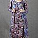 Платья ручной работы. Заказать Vacanze Romane-1088. deRvoed Lena. Ярмарка Мастеров. Трикотажное платье, сиреневый, бусины