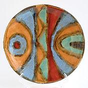 Посуда ручной работы. Ярмарка Мастеров - ручная работа Тарелка «Африканский щит». Handmade.