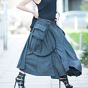 Одежда handmade. Livemaster - original item Fashionable, long skirt in