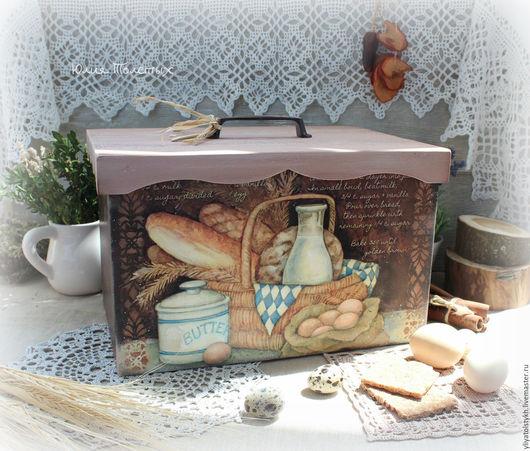 """Кухня ручной работы. Ярмарка Мастеров - ручная работа. Купить Хлебница """"Sweet home"""". Handmade. Хлеб, для дома и интерьера, для женщины"""