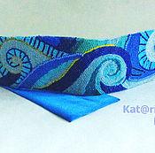 Аксессуары handmade. Livemaster - original item the girdle is blue