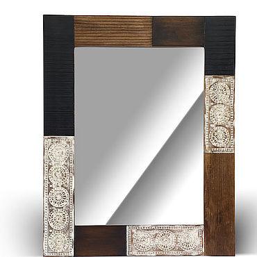 Для дома и интерьера ручной работы. Ярмарка Мастеров - ручная работа Зеркало лофт из массива, ШАНТИ. Handmade.