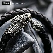 Украшения handmade. Livemaster - original item Melchior bracelet Dragon, leather. Handmade.