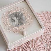 Для дома и интерьера ручной работы. Ярмарка Мастеров - ручная работа шкатулка розовая с ангелом. Handmade.