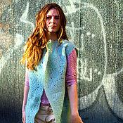 """Одежда ручной работы. Ярмарка Мастеров - ручная работа Удлиненный жилет """"Мята"""". Handmade."""