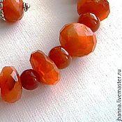 Украшения handmade. Livemaster - original item Carnelian. Classical beads of the stunning carnelian. Handmade.