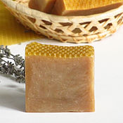 Косметика ручной работы. Ярмарка Мастеров - ручная работа Медовое мыло Мелодия, лавандовое мыло, мыло с шелком, ванильное мыло. Handmade.