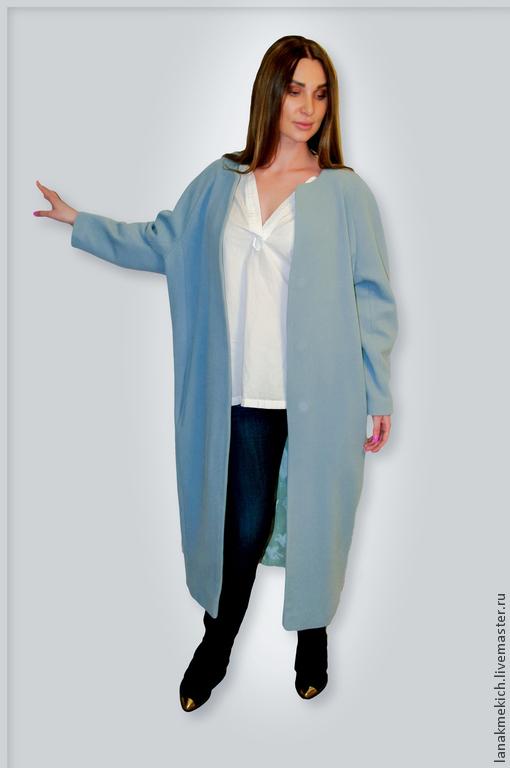 """Верхняя одежда ручной работы. Ярмарка Мастеров - ручная работа. Купить пальто-кокон  """" Весенний trеnd"""" look №2. Handmade."""