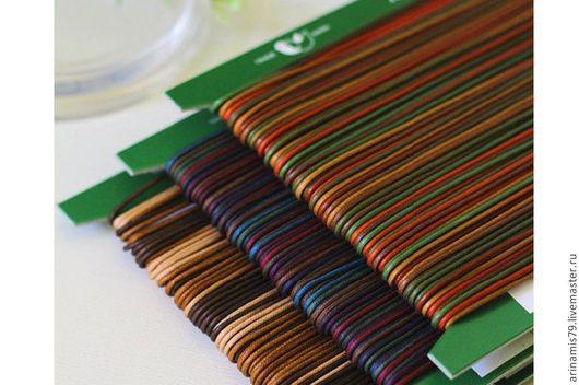 Шитье ручной работы. Ярмарка Мастеров - ручная работа. Купить Шнур трехцветный вощеный 1,6 мм.. Handmade. Разноцветный