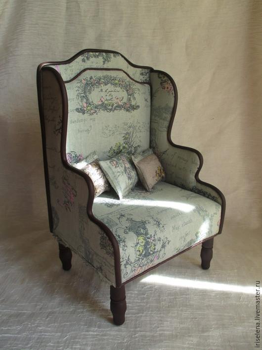 """Кукольный дом ручной работы. Ярмарка Мастеров - ручная работа. Купить Кресло """" Цвета Парижа. Мятный"""" Для кукол от 35 до 45 см. Handmade."""