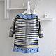 Одежда для девочек, ручной работы. Кофта вязаная для девочки. Natalia (Natalia1045). Ярмарка Мастеров. Весенняя одежда, синий, кофта