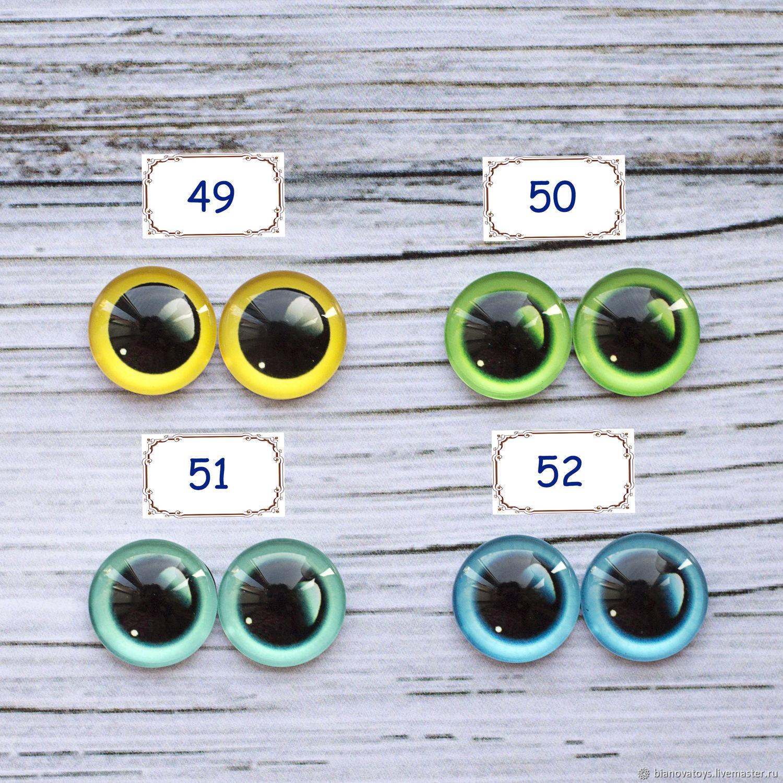 Глазки стеклянные 8 - 18 мм для игрушек, Фурнитура для кукол и игрушек, Ижевск,  Фото №1