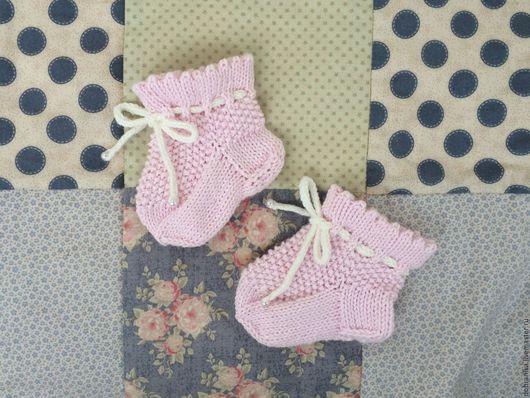 Для новорожденных, ручной работы. Ярмарка Мастеров - ручная работа. Купить Носочки-пинетки для девочки. Handmade. Пинетки для девочки, носки