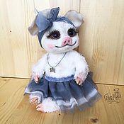 Куклы и игрушки handmade. Livemaster - original item Pig Teddy Marivanna. Handmade.