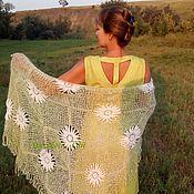 Аксессуары handmade. Livemaster - original item Shawl downy Daisies openwork cape. Handmade.