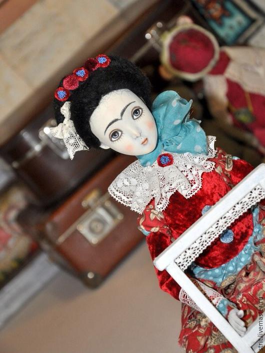Портретные куклы ручной работы. Ярмарка Мастеров - ручная работа. Купить Фрида. Handmade. Ярко-красный, красный, фрида