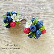 Серьги классические ручной работы. Ярмарка Мастеров - ручная работа Серьги с ягодами. Handmade.