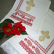 Свадебный салон handmade. Livemaster - original item A set of towels on the icon for the blessing of