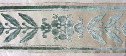 Аппликации, вставки, отделка ручной работы. Ярмарка Мастеров - ручная работа. Купить Старинные ленты шелковый бархат. Handmade. Зеленый