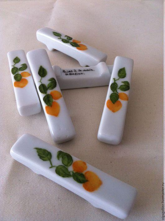 """Декоративная посуда ручной работы. Ярмарка Мастеров - ручная работа. Купить Подставки под ножи """"Лимон"""". Handmade. Платина"""