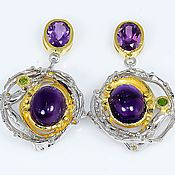 Украшения handmade. Livemaster - original item Earrings with natural amethyst.. Handmade.