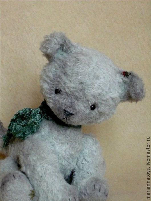 Мишки Тедди ручной работы. Ярмарка Мастеров - ручная работа. Купить щенок Шарик. Handmade. Голубой, тедди, подарок, опилки