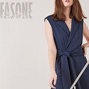 Одежда handmade. Livemaster - original item Women`s jumpsuit blue summer Jumpsuit blue female. Handmade.
