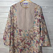 Одежда ручной работы. Ярмарка Мастеров - ручная работа Туника - блузка Бохо. Handmade.