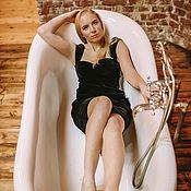 Платья ручной работы. Ярмарка Мастеров - ручная работа Бархатное платье-бюстье. Handmade.