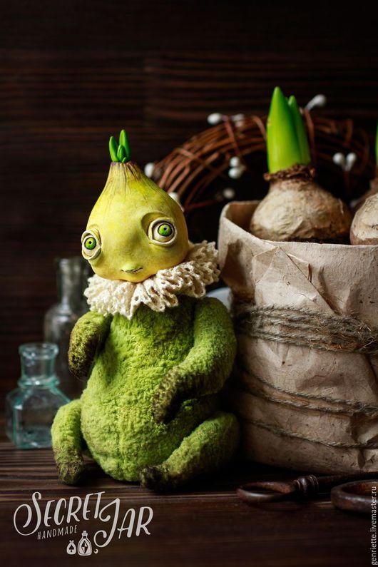 Мишки Тедди ручной работы. Ярмарка Мастеров - ручная работа. Купить Цветочная луковичка - Ди.. Handmade. Салатовый, цветы, весна