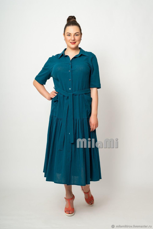Art. .4439 Dress made of Saxon-blue gauze, Dresses, Kirov,  Фото №1