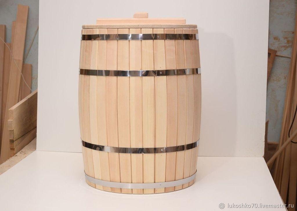Банные принадлежности ручной работы. Ярмарка Мастеров - ручная работа. Купить Бочка деревянная 200 литров для воды. Бочка для бани. Handmade.