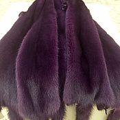 Норка цельная сиренево-фиолетовая.