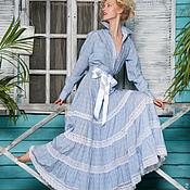 Одежда ручной работы. Ярмарка Мастеров - ручная работа Платье-рубашка из хлопка для свадьбы и на каждый день. Handmade.