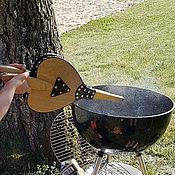 Сувениры и подарки handmade. Livemaster - original item Bellows round shape with leather handles.Fireplace and Barbecue... Handmade.