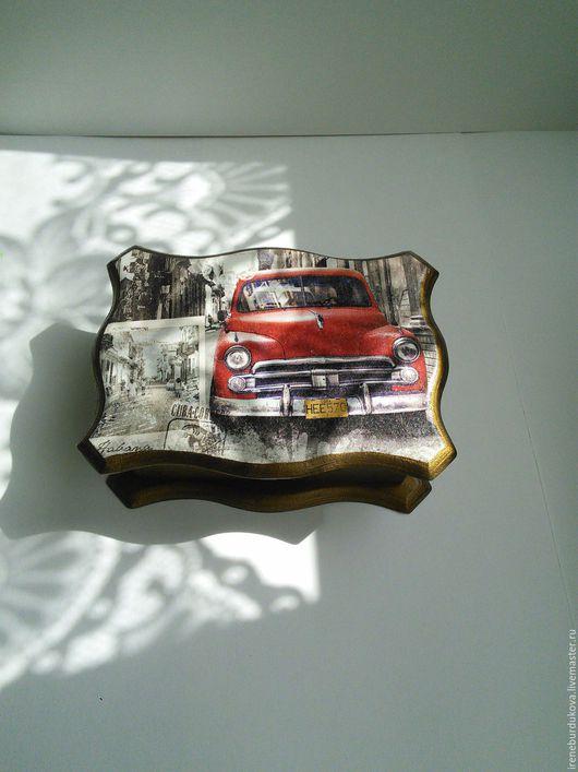 """Шкатулки ручной работы. Ярмарка Мастеров - ручная работа. Купить Шкатулка """"Куба"""". Handmade. Комбинированный, акриловые краски, салфетка для декупажа"""