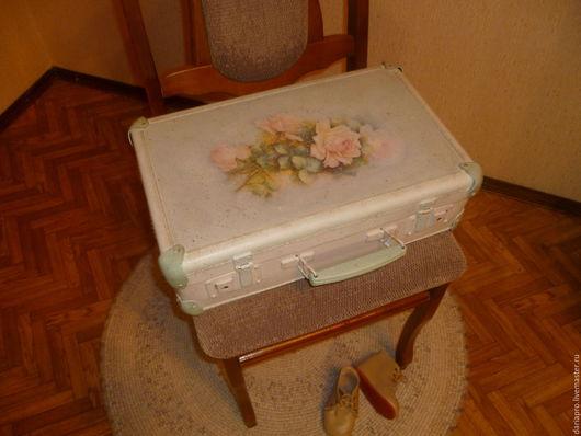 """Чемоданы ручной работы. Ярмарка Мастеров - ручная работа. Купить чемодан""""""""Vintage rose"""". Handmade. Комбинированный, украшение интерьера"""