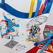 """Для дома и интерьера ручной работы. Ярмарка Мастеров - ручная работа Короб """"Супергерои"""". Handmade."""