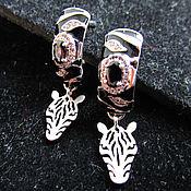 Украшения handmade. Livemaster - original item earrings Zebra. Handmade.