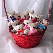 """Куклы и игрушки ручной работы. Ярмарка Мастеров - ручная работа Мишки - """"Валентинки"""". Handmade."""
