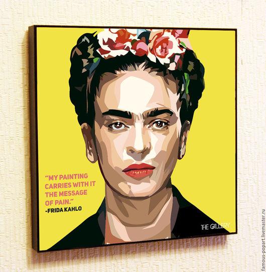 Дизайн интерьеров ручной работы. Ярмарка Мастеров - ручная работа. Купить Картина Фрида Кало в стиле Поп Арт. Handmade.