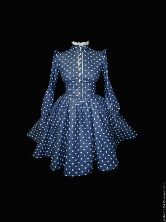 """Платья ручной работы. Ярмарка Мастеров - ручная работа. Купить Платье """"винтажное в Горох"""" в повторе из американского хлопка. Handmade. в горох"""