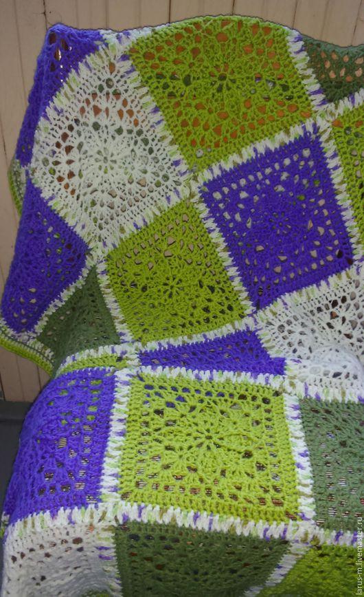 Пледы и одеяла ручной работы. Ярмарка Мастеров - ручная работа. Купить Детский плед в кроватку или коляску (в зеленых тонах). Handmade.