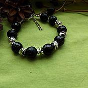 Фен-шуй и эзотерика handmade. Livemaster - original item Bracelet with schorl-black tourmaline. Handmade.