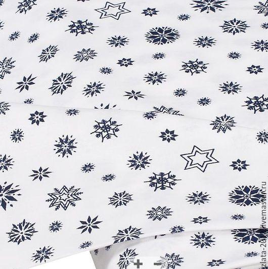 """Шитье ручной работы. Ярмарка Мастеров - ручная работа. Купить Немецкий хлопок""""Снежинка"""". Handmade. Хлопок, ткани, ткани для рукоделия"""