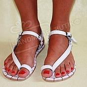 Обувь ручной работы handmade. Livemaster - original item sandals leather white. Handmade.