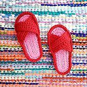 Обувь ручной работы handmade. Livemaster - original item Slippers made of knitted yarn.. Handmade.