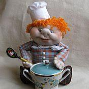 Куклы и игрушки ручной работы. Ярмарка Мастеров - ручная работа Авторская чулочная кукла Повар. Handmade.